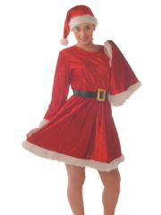 Miss Santa Costume with Cape (C6051)